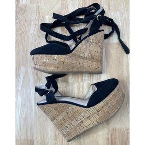 ASOS Wedge Platform Heels Shoes Size UK 6 AU 8